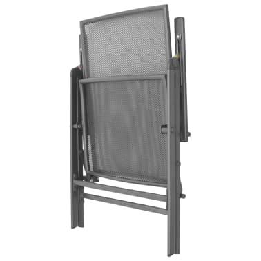 vidaXL Stapelbare Gartenstühle 2 Stk. Stahl Grau[6/8]