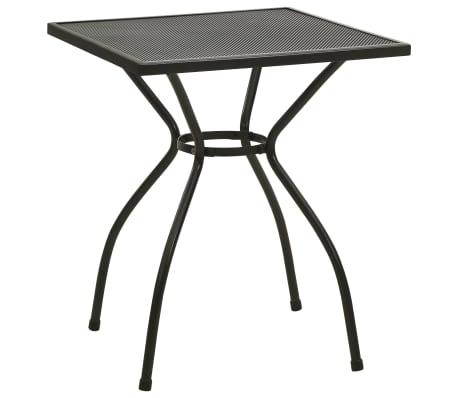vidaXL Cafébord 60x60x70 cm stålnät