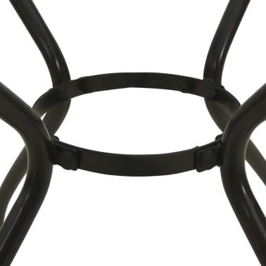 vidaXL Garten-Bistrotisch Stahlgeflecht 60 x 60 x 70 cm[3/4]