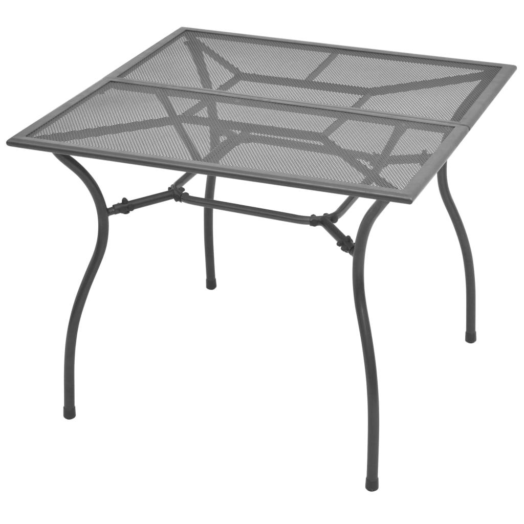 vidaXL Stół ogrodowy, 90x90x72 cm, stalowa siatka