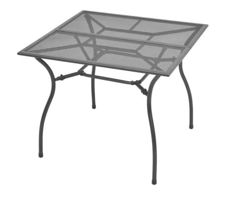 vidaXL Mesa de jardín de malla de acero 90x90x72 cm