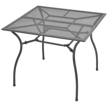 vidaXL Mesa de jardín de malla de acero 90x90x72 cm [1/3]
