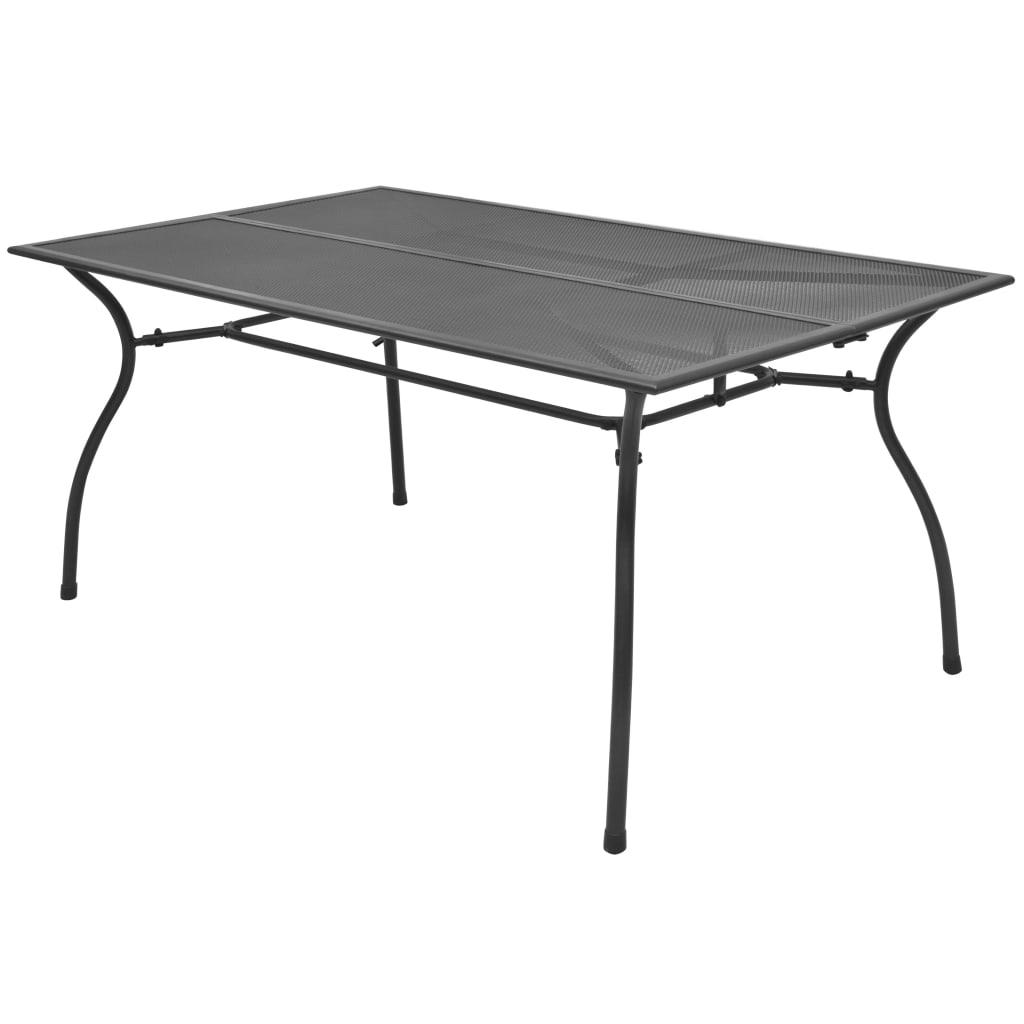 vidaXL Stół ogrodowy, 150x90x72 cm, stalowa siatka