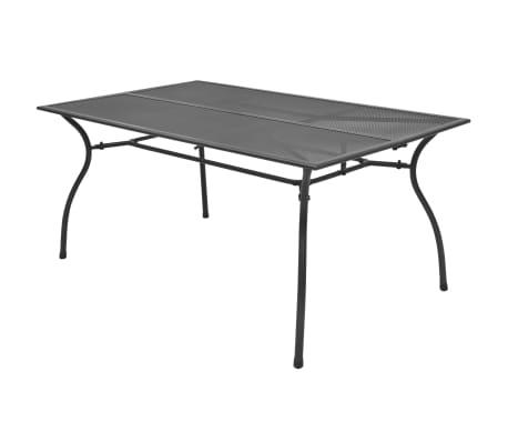 vidaXL Table de salle à manger d'extérieur Acier Treillis 150x90x72 cm[1/3]