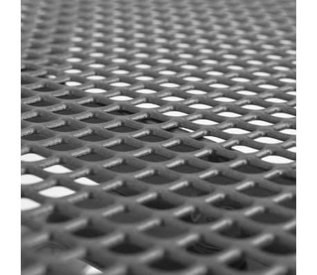 vidaXL Table de salle à manger d'extérieur Acier Treillis 150x90x72 cm[2/3]