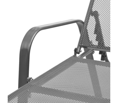 vidaXL Sonnenliege Stahlgewebe Verstellbar[6/8]
