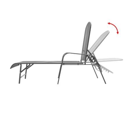 vidaXL Solsenger 2 stk med bord stål antrasitt[2/13]