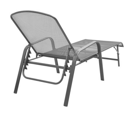 vidaXL Solsenger 2 stk med bord stål antrasitt[5/13]