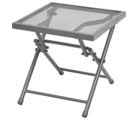 vidaXL Solsenger 2 stk med bord stål antrasitt[7/13]