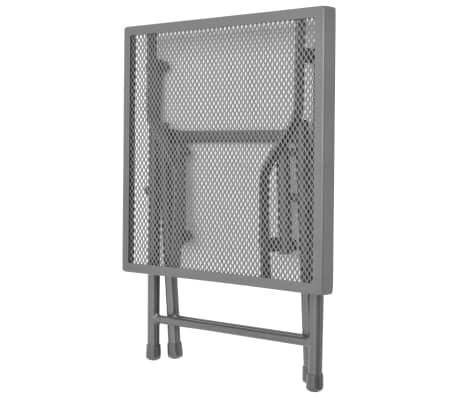 vidaXL Solsenger 2 stk med bord stål antrasitt[8/13]