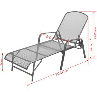 vidaXL Solsenger 2 stk med bord stål antrasitt[12/13]