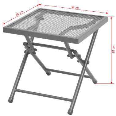 vidaXL Solsenger 2 stk med bord stål antrasitt[13/13]