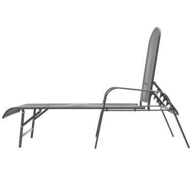 vidaXL Solsenger 2 stk med bord stål antrasitt[6/13]