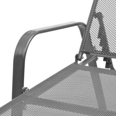 vidaXL Solsenger 2 stk med bord stål antrasitt[9/13]