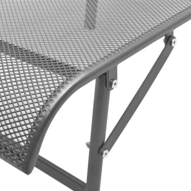 vidaXL Solsenger 2 stk med bord stål antrasitt[10/13]