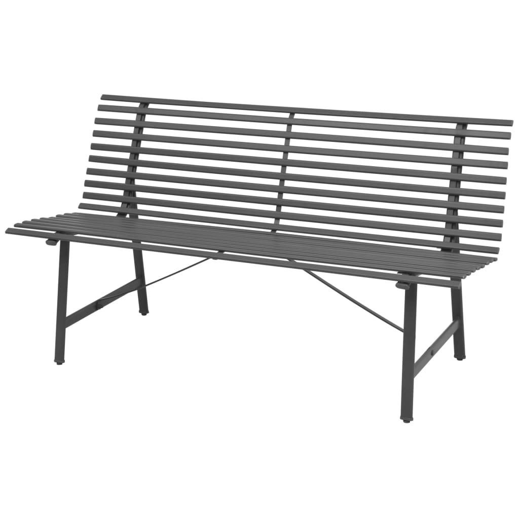 vidaXL Zahradní lavice, ocel, 150x62x80 cm, antracitová