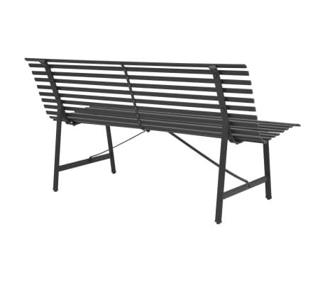 vidaXL Gartenbank Stahl 150 × 62 × 80 cm Anthrazit[3/5]