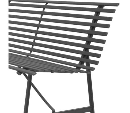 vidaXL Gartenbank Stahl 150 × 62 × 80 cm Anthrazit[4/5]