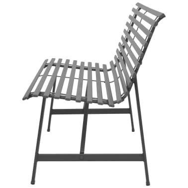 vidaXL Gartenbank Stahl 150 × 62 × 80 cm Anthrazit[2/5]