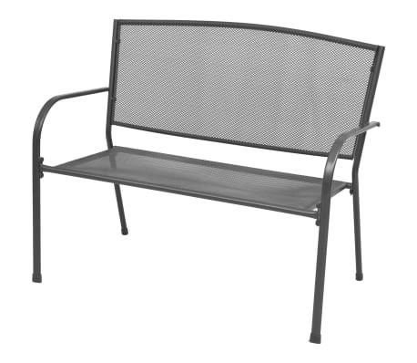vidaXL Garden Bench 108 cm Steel and Mesh Anthracite