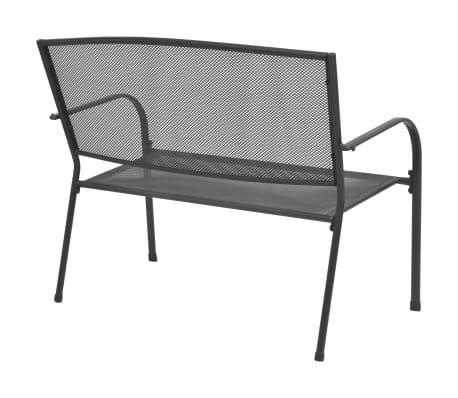 vidaXL Gartenbank 108 cm Stahl und Gitter Anthrazit[2/6]