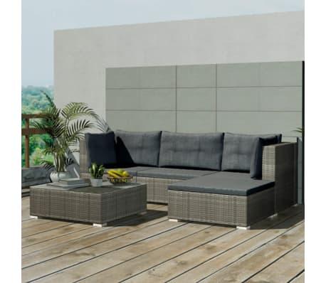 acheter vidaxl mobilier de jardin 14 pcs gris r sine. Black Bedroom Furniture Sets. Home Design Ideas