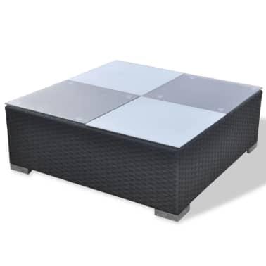 vidaXL 5 Piece Garden Lounge Set with Cushions Poly Rattan Black[10/11]