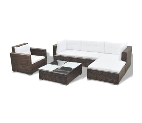 This rattan garden sofa and table set will make a great addition to your outdoor living space. It will add a touch of modern elegance to your patio, balcony or garden with its understated, yet stylish design.
