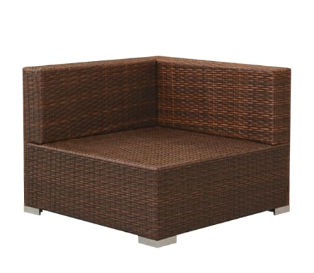 vidaxl gartensofa garnitur 8 tlg poly rattan braun g nstig kaufen. Black Bedroom Furniture Sets. Home Design Ideas