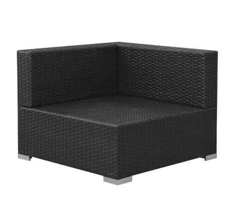 vidaxl gartensofa garnitur 8 tlg poly rattan schwarz g nstig kaufen. Black Bedroom Furniture Sets. Home Design Ideas