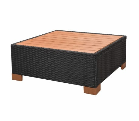 vidaxl garten lounge set 18 tlg poly rattan wpc schwarz g nstig kaufen. Black Bedroom Furniture Sets. Home Design Ideas