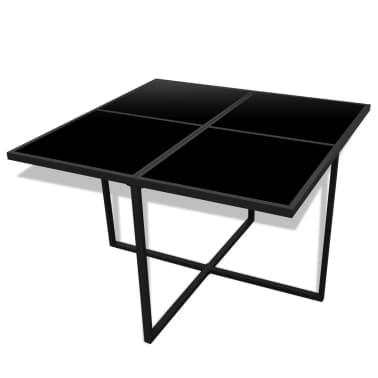 vidaXL 9-daļīgs dārza mēbeļu komplekts ar matračiem, PE pinums, melns[4/8]