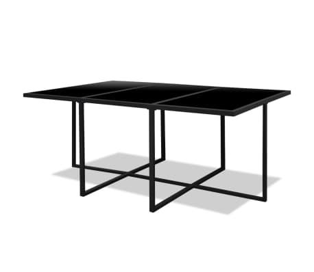 vidaxl garten essgruppe 27 tlg schwarz poly rattan g nstig kaufen. Black Bedroom Furniture Sets. Home Design Ideas