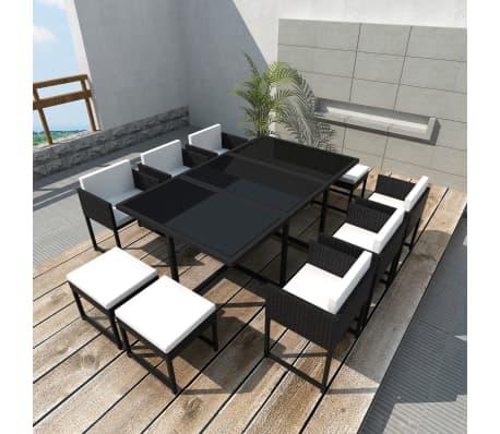 acheter vidaxl jeu de mobilier de jardin 27 pcs noir. Black Bedroom Furniture Sets. Home Design Ideas