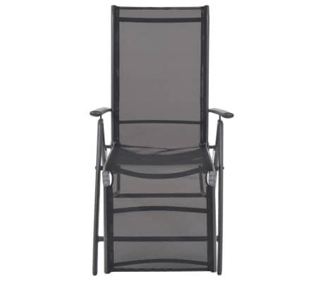 vidaXL Liegestuhl Textilene Schwarz 58,5 × 69 × 110 cm[3/9]