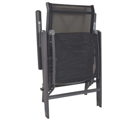 vidaXL Liegestuhl Textilene Schwarz 58,5 × 69 × 110 cm[6/9]