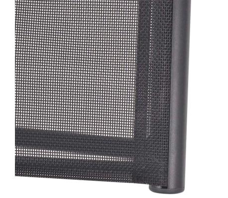 vidaXL Liegestuhl Textilene Schwarz 58,5 × 69 × 110 cm[7/9]
