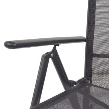 vidaXL Liegestuhl Textilene Schwarz 58,5 × 69 × 110 cm[8/9]
