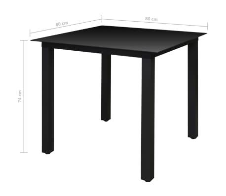 vidaXL Mobilier à dîner de jardin 5 pcs et chaises pliables Aluminium[6/7]