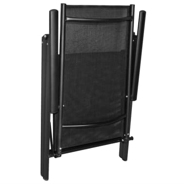vidaXL Mobilier à dîner de jardin 5 pcs et chaises pliables Aluminium[5/7]