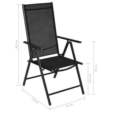 vidaXL Mobilier à dîner de jardin 5 pcs et chaises pliables Aluminium[7/7]