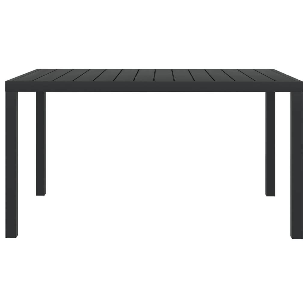 vidaXL Tuintafel 150x90x74 cm aluminium en HKC zwart