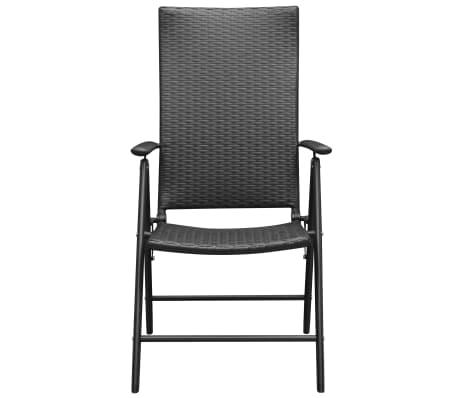 vidaxl gartenst hle 2 stk poly rattan aluminium schwarz g nstig kaufen. Black Bedroom Furniture Sets. Home Design Ideas