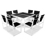 vidaXL Outdoor Dining Set 9 Pieces 109x109x72 cm Aluminium