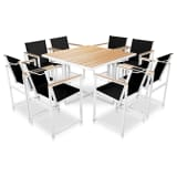 vidaXL Outdoor Dining Set 9 Pieces 109x109x72 cm Aluminium WPC Brown