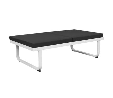 vidaXL 4 Piece Garden Lounge Set with Cushions Aluminium Black[6/10]