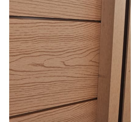 """vidaXL WPC Fence Panel with 2 Posts 72.8""""x72.8"""" Brown[6/9]"""