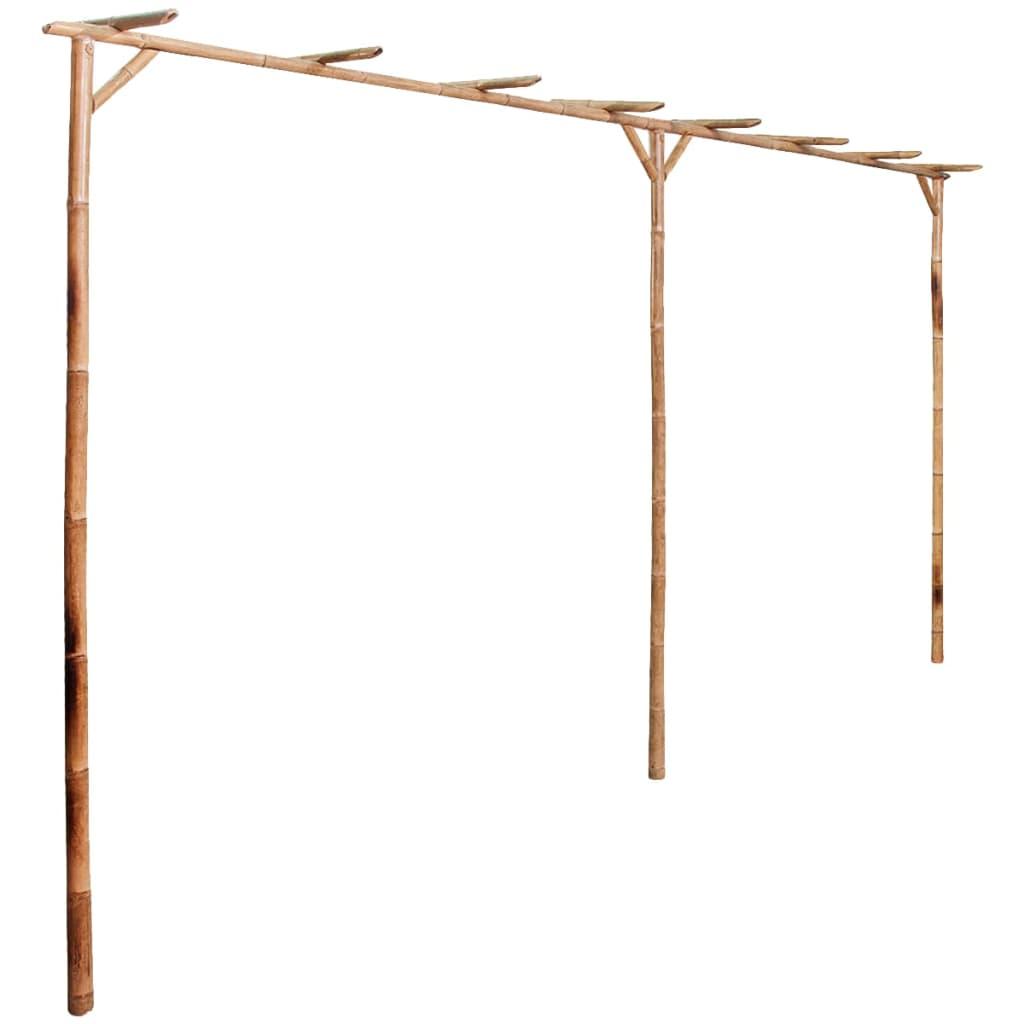 vidaXL Pergolă din bambus 385 x 40 x 205 cm vidaxl.ro