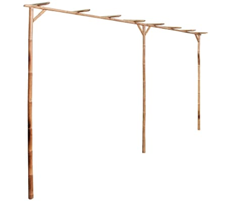 vidaXL Pérgola de bambu 385x40x205 cm