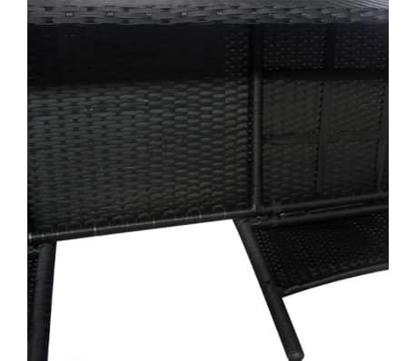 VidaXL Gartenbank 2 Sitzer Mit Tisch Poly Rattan Schwarz[4/5]